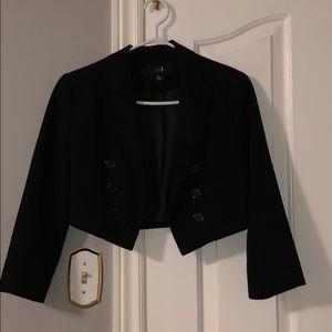 Short black blazer